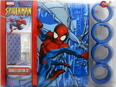 Spider Man Shower Curtain Set at Cutesense.com