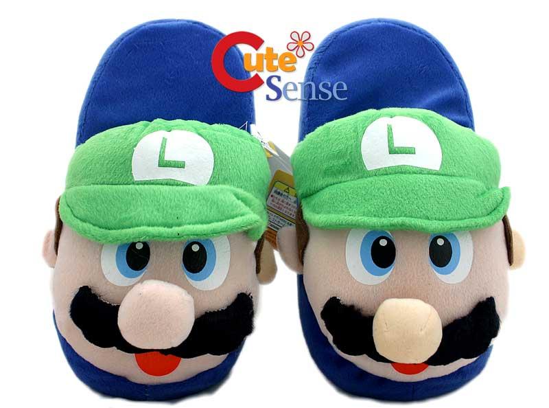 Super Mario Brothers Luigi Plush Slipper One size *USA
