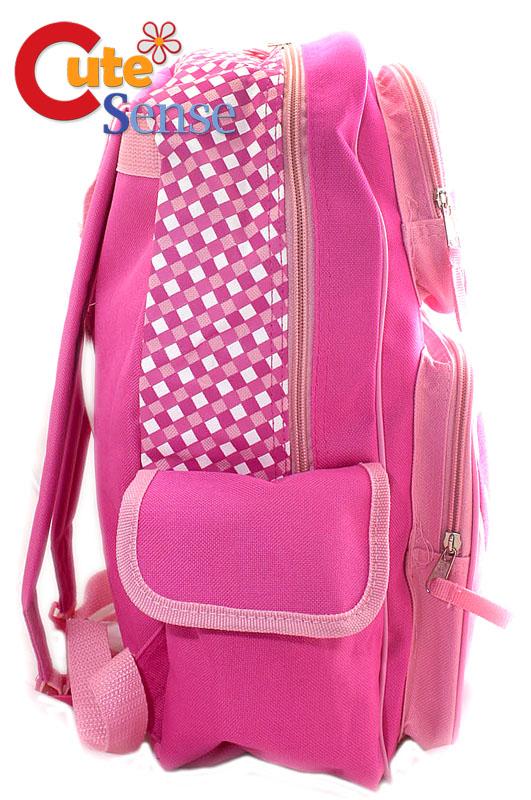Hello Kitty SCHOOL BACKPACK BAG Sanrio PINK Check  L