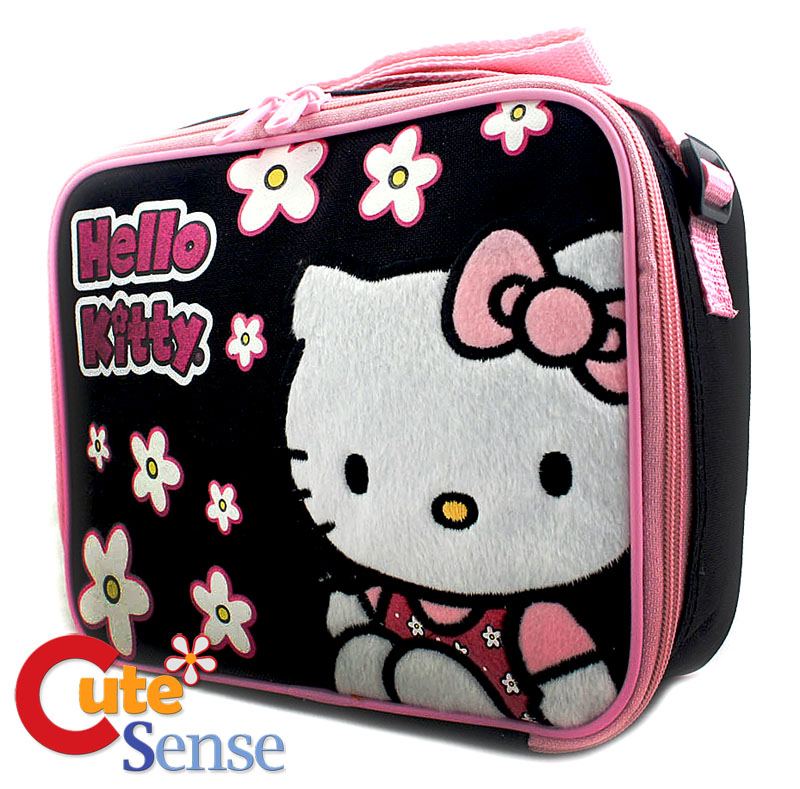 Hello Kitty Black & Pink Lunch Bag Box at Cutesense.com