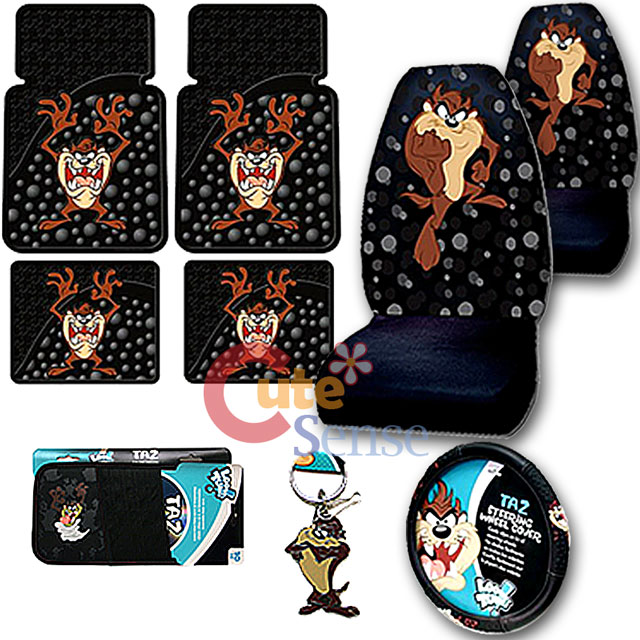Taz Car Seat Covers And Floor Mats