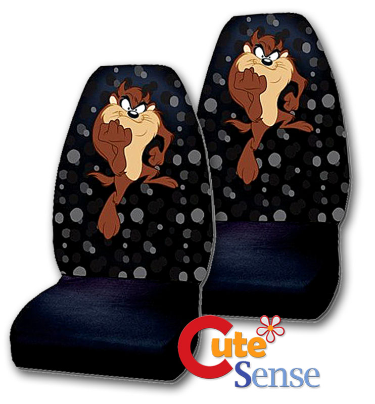 Looney Tunes Taz Front Car Seat Covers Accessories Set 2pc