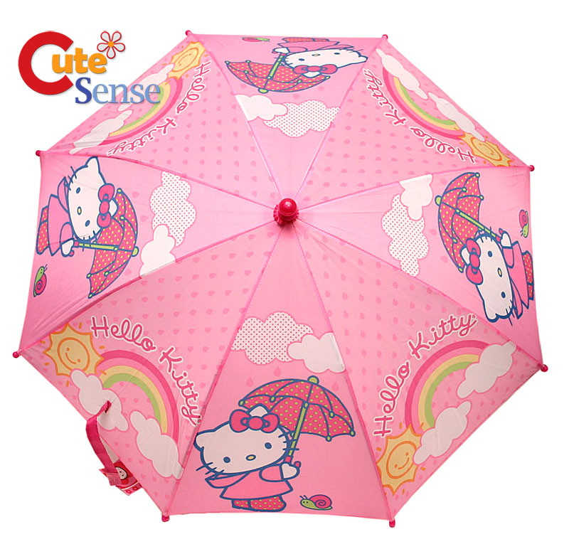 Sarino Hello Kitty Kids Umbrella : Pink Rainbow at Cutesense.com
