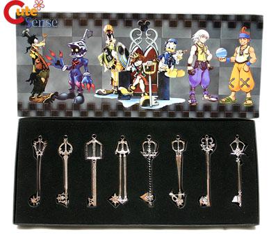 Kingdom Hearts 8PC Metal KeyBlade Sword Weapon Set