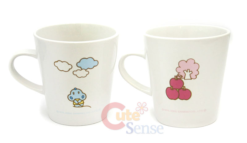 Sanrio Hello Kitty Pink-Blue Ceramics Mug Cup Set at Cutesense.com