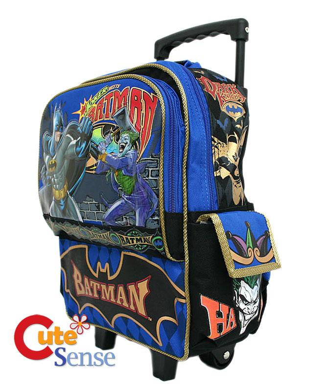 BatMan Meets Joker 12 Small School Roller Backpack/Bag