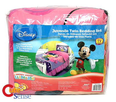 Toddler  Bedding Minnie Mouse on Disney Minnie Mouse Pink 3pc Twin Bedding Comforter Set At Cutesense