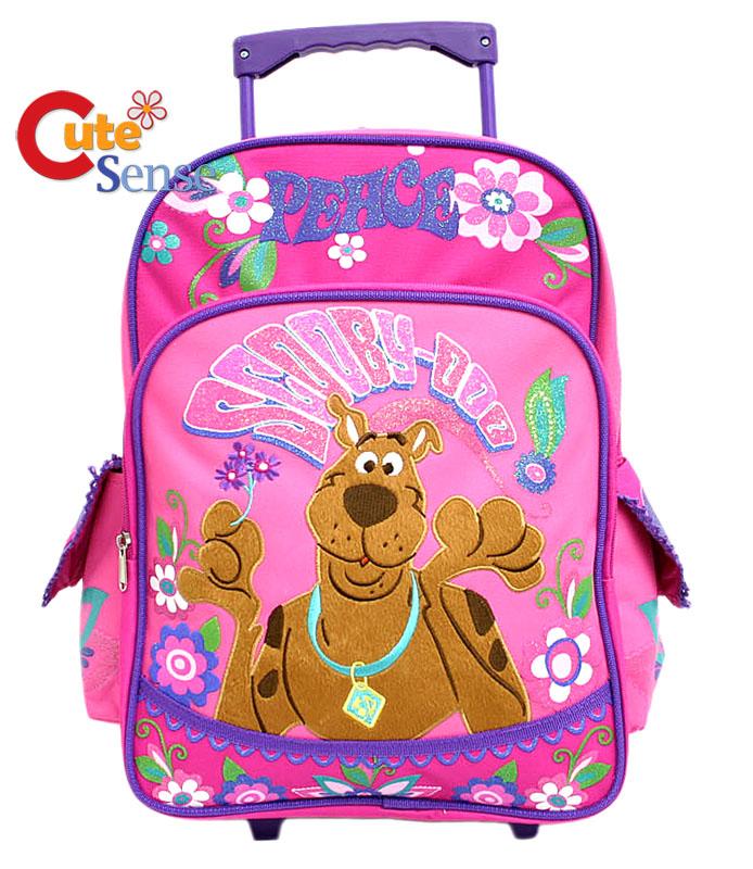 Scooby Doo School Roller Backpack   Pink 16 Large Rolling Bag