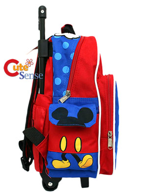 Disney Mickey Mouse School Roller Backpack/Bag12 S M