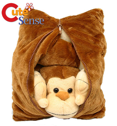 Pillow Sizes on Fiesta Monkey Peek A Boo Plush Transforming Pillow Fiesta 2 Jpg