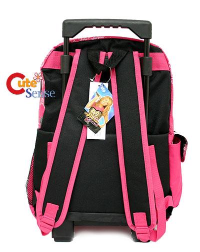 ... on Disney Hannah Montana School Roller Backpack Large Rolling Bag Pink