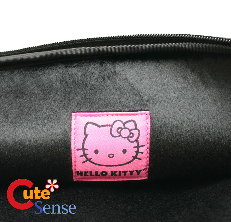 "Hello Kitty MacBook Case 13"" Laptop Formed Zippered Bag White Face Loungefly"