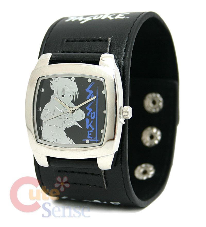 Naruto SASUKE Wrist Watch :Stainless Leather/ Wide Band