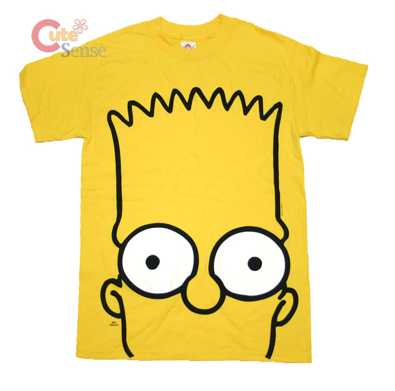 simpson family bart t shirts bart big face yellow tee. Black Bedroom Furniture Sets. Home Design Ideas
