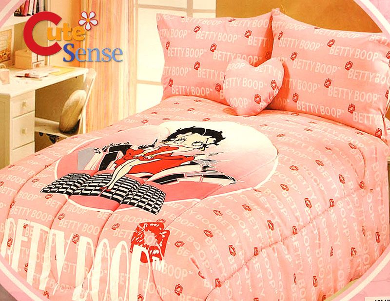 Hello Kitty Queen Size Bedding. Betty Boop 5PC Queen Size