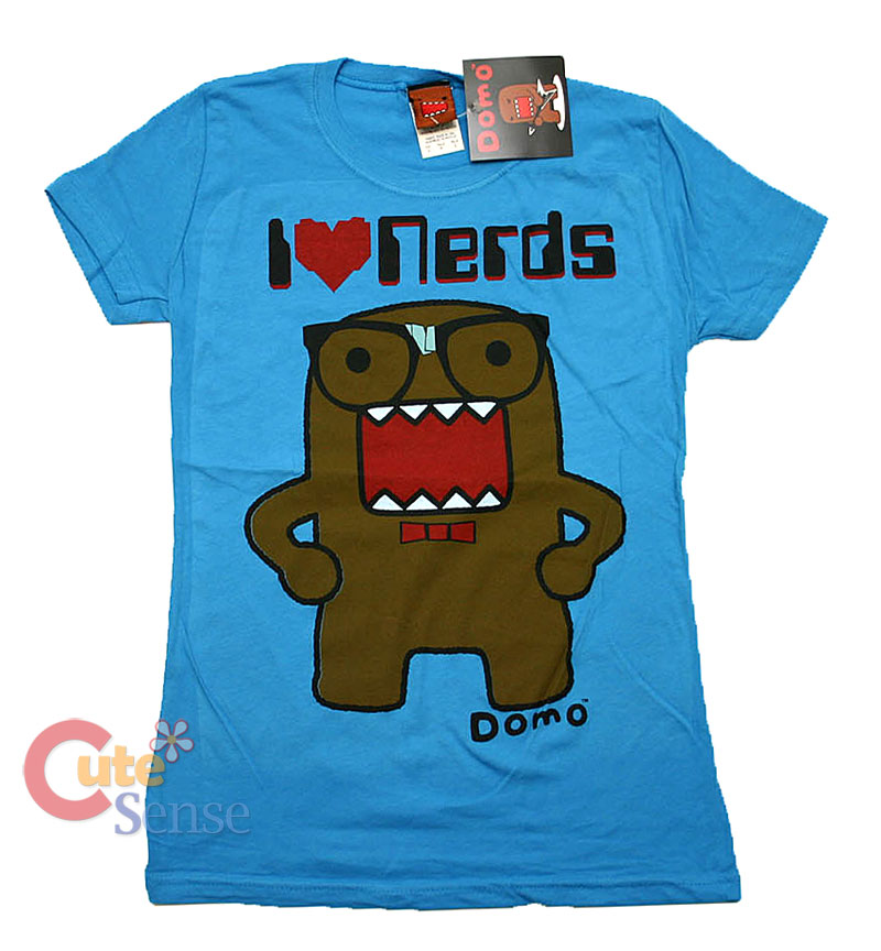 Domo Kun Girls Women T-Shirt - I Heart Nerds : X-Large at Cutesense.com