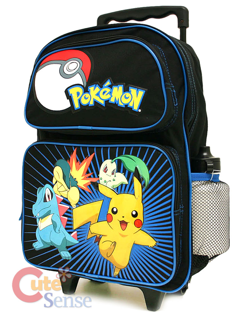 "Pokemon Roller Backpack School Rolling Bag-16"" Large"