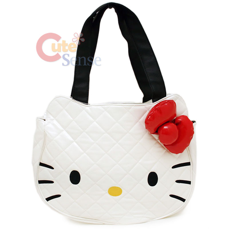JJ ROG 81: hello kitty quilted face bag in white : hello kitty quilted purse - Adamdwight.com