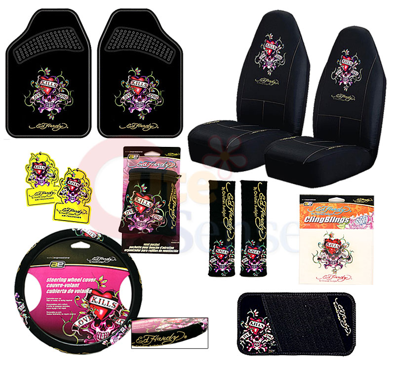 Ed Hardy Seat Covers For Cars
