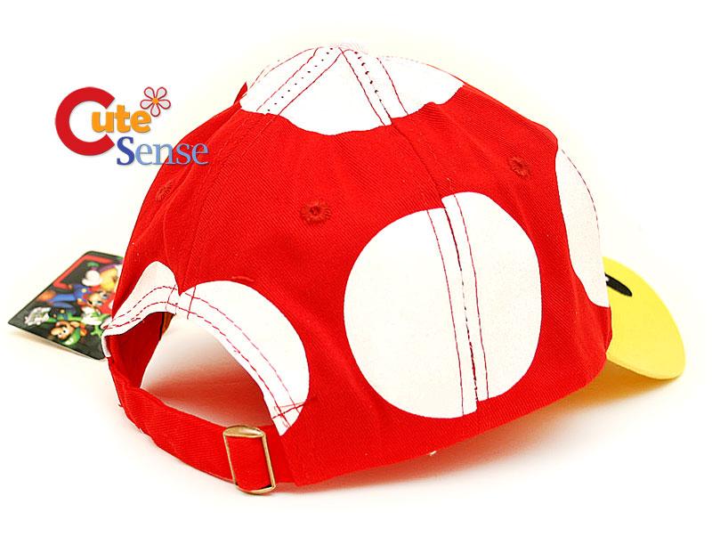 Super Mario Red Mushroom Toad Baseball Cap / Hat