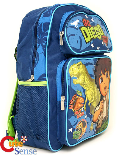 Side School Bags on Go Diego Go W  Dinosaur School Backpack  Bag 16  Large   Ebay