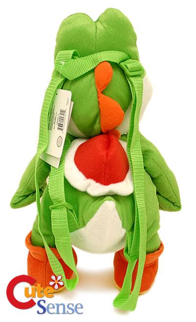 Nintendo Super Mario Green Yoshi Plush Bag/Backpack 19