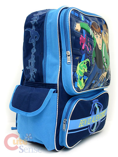 Side School Bags on Ben 10 Alien Force School Large Backpack Lunch Bag Set   Ebay