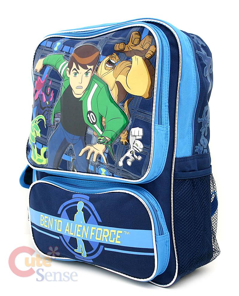a685308e899 Ben 10 Alien Force School Large Backpack Lunch Bag Set on PopScreen