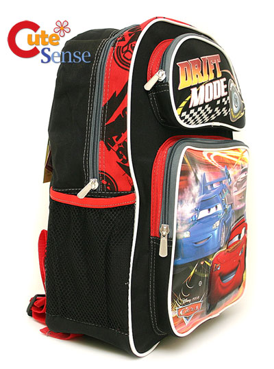 "Disney Pixar Cars Mcqueen school Backpack : 16 "" Large-Drift."