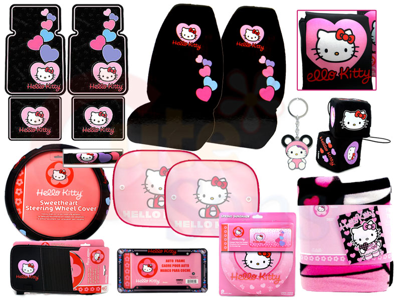 hello kitty car seat. Hello kitty Car Seat Covers Auto Accessories Complete Set - Full 15PC at