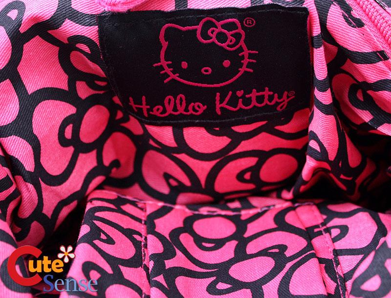 Black Hello Kitty Bags. Sanrio Hello Kitty Face Fleece