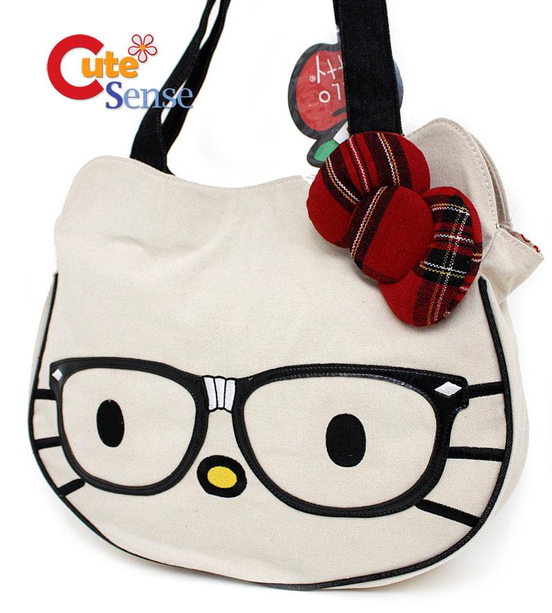 5a9219af4bb3 Sanrio Hello Kitty Nerd Face Tote Bag at Cutesense.com