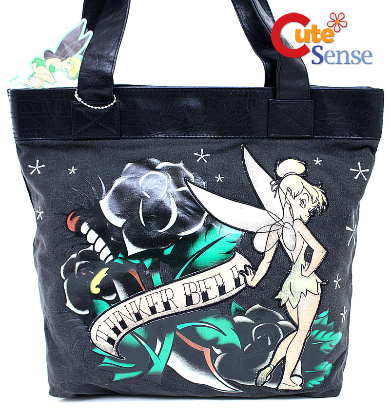 Disney Tinkerbell Tattoo Tote Bag at Cutesense.com