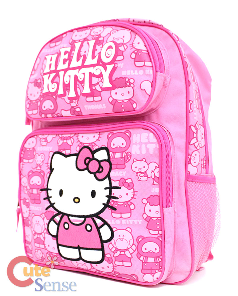 "Sanrio Hello Kitty School Backpack Bag Friends-L 16"""