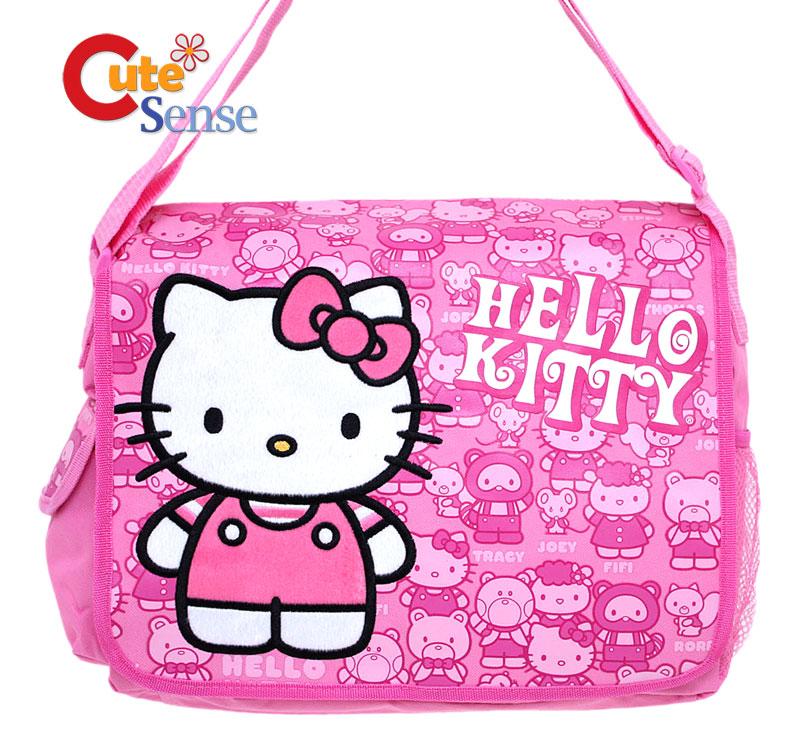 e688b401a2 Hello Kitty School Messenger Diaper Bag Friends Pink on PopScreen