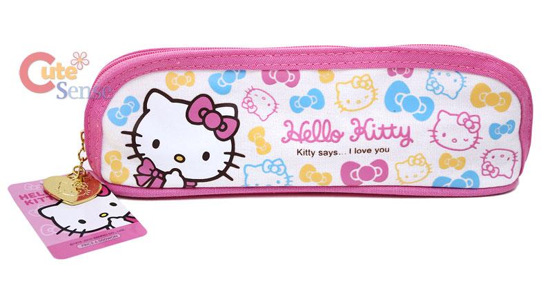 Sanrio Hello Kitty Pencil Case / Bag  White Pink