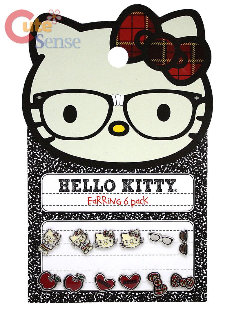 Sanrio Hello Kitty Stud Earring Pack SetNerd LoungeFly
