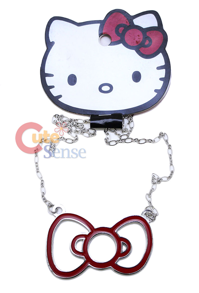 Sanrio Hello Kitty Big red bow Necklace Loungefly_1