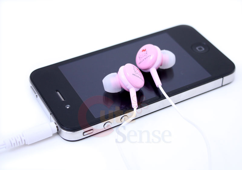 Sanrio Hello Kitty Ergonomic Designed Stereo earphones Headphones at