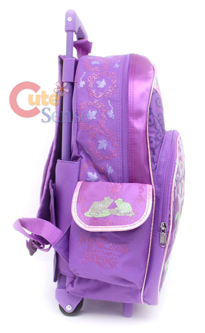15b610b2545 Disney Princess Tiana Shcool Rolling Backpack Bag 3 on PopScreen