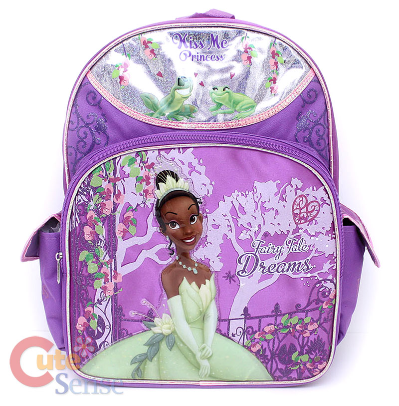 63565773695 Disney Princess Tiana and the Frog School Backpack 16 Large on PopScreen