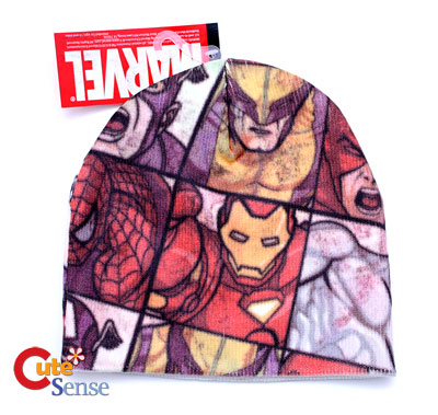 fa39a8619e2 Marvel All Over Heroes Print Beanie (Teen-Adult)