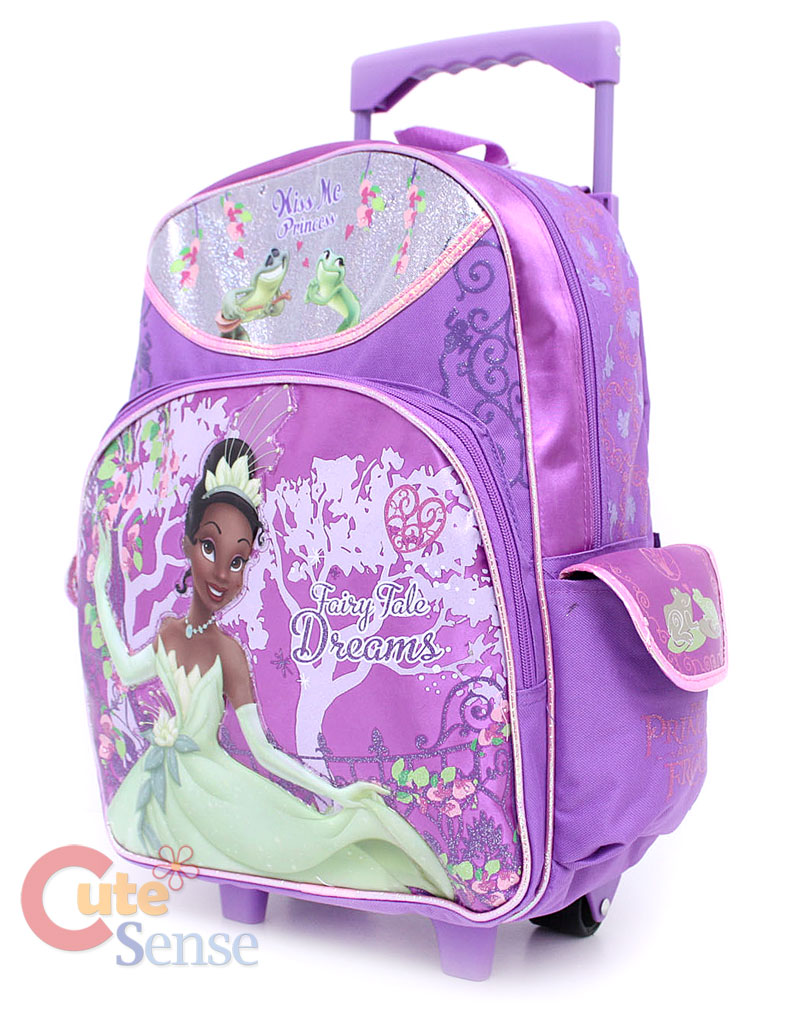 399b36fd31d Princess Tiana School Large Roller Backpack w Lunch Bag on PopScreen