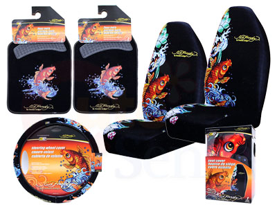 Parent Directory Ed Hardy Koi Car Seat Covers Accesories Set 1