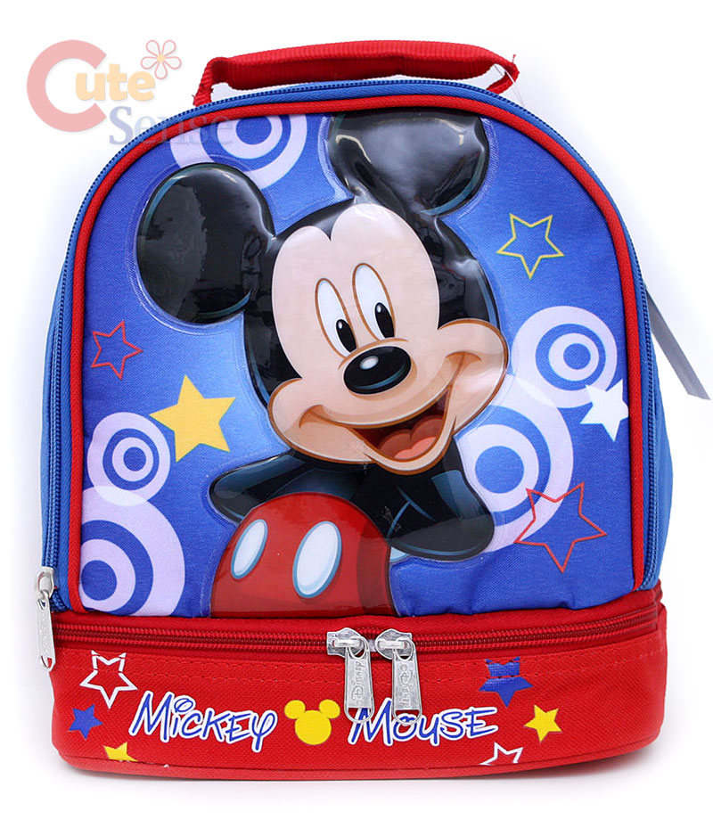 Disney Mickey Mouse Kids Lunch Bag 2 Compartments Ebay