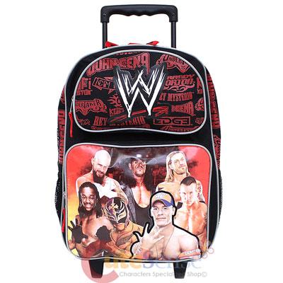 WWE Wrestling School Rolling Backpack  Roller Bag-16