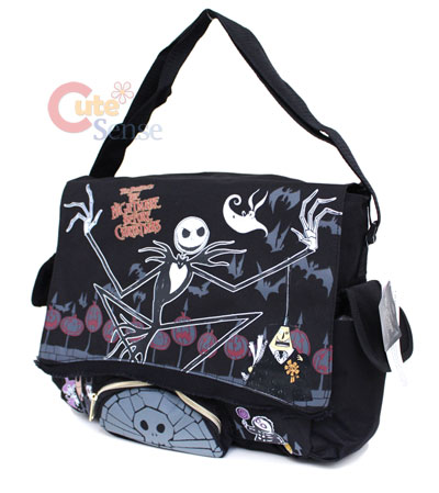 Shoulder Messenger Bags on Nightmare Before Christmas Shoulder Messenger Bag  Coffin Pocket