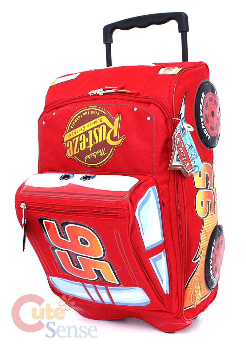 Cars McQueen Suite Case Rolling Luggage 1