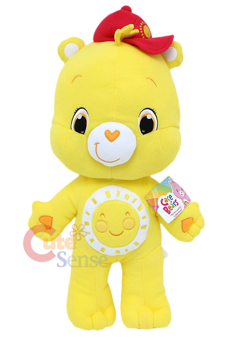 Care Bears Funshine Bear Plush Doll Cuddle Pillow Cushion