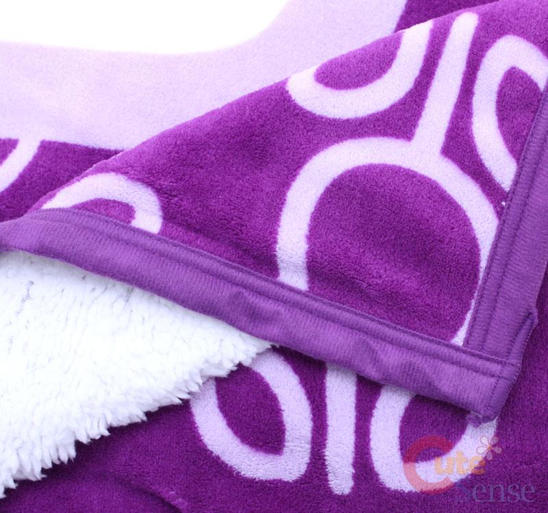 Sanrio Hello Kitty Plush Blanket /Micro Sherpa Mink Purple 60x80 Twin